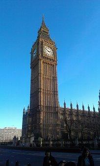 Big Ben, London, Evening, Westminster, Sky, Twilight
