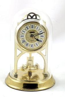 Clock, Alarm, Antique, Vintage, Table, Pendulum, Rotor