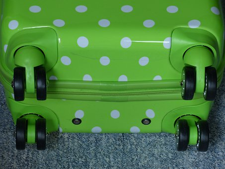 Wheeled Bags, Luggage, Roll, Wheels, Green