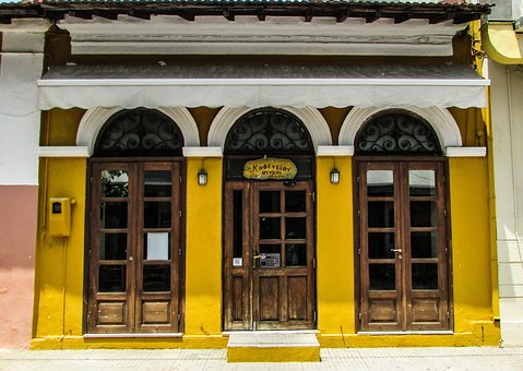 Coffeehouse, Old, Architecture, Building, Color
