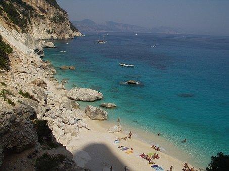Beach, Cala Goloritze, Sea, Turquoise, Sardinia