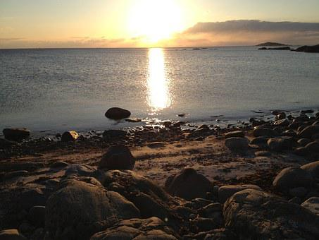 Sunset, Beach, Hönö