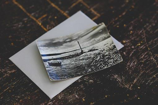 Old, Vintage, Postcard, Black&white, Bw, Holiday