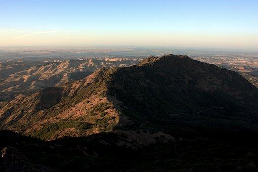 Landscape, Mountain, California, Nature, Summer