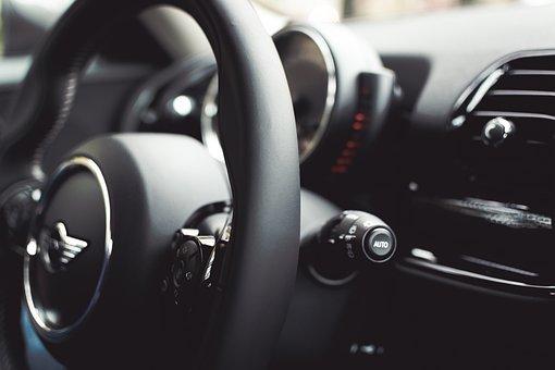 Mini, Cooper, Car, Dashboard, Steering, Wheel