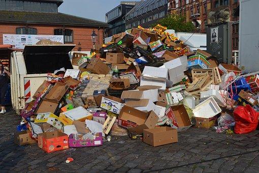 Garbage, Environmental Protection, Cardboard, Pollution