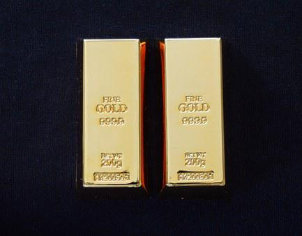 Gold, Bars, Exhibition, Feingold, 2 Pcs