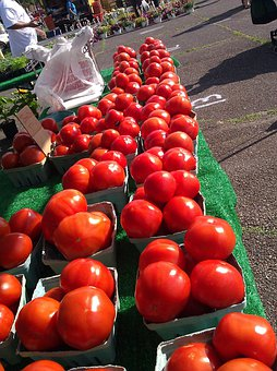 Tomatoes, Farmers, Market, Fresh, Organic, Healthy