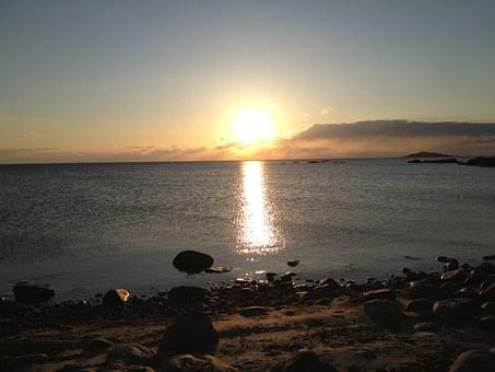 Hönö, Beach, Sunset