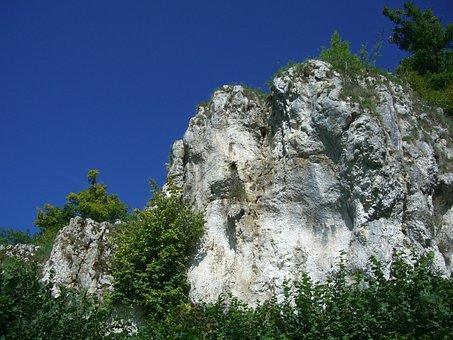 Rock, Kagberg, Sky Blue, Hürben, Huerbetal, Limestone