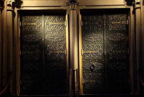 Door, Gate, Illumination, Old, Building, Light