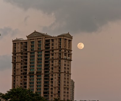 Moon, Building, India, Mumbai, Temple, Bombay, Culture