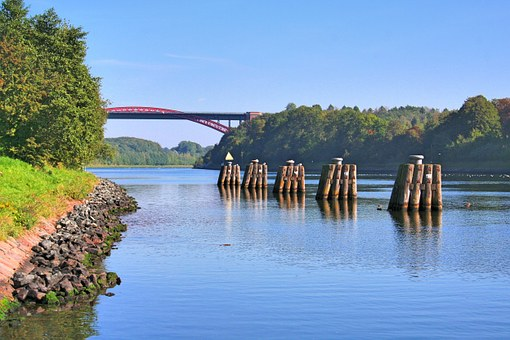 Channel, Waterway, North Baltic Sea Canal Canal Bridge