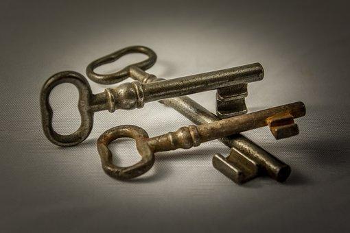 Key, Metal, Old, Close To, Door Key, Iron, Locks To