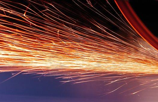 Spark, Electric, Orange, Energy, Electricity, Lightning
