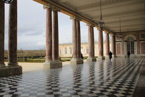 Paris, Versailles, Palace, Small Trianon, Columns