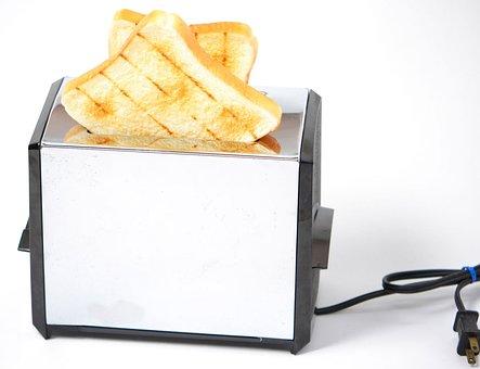 Toaster, Pop-up Toaster, Toast, Slice, Bread, Food