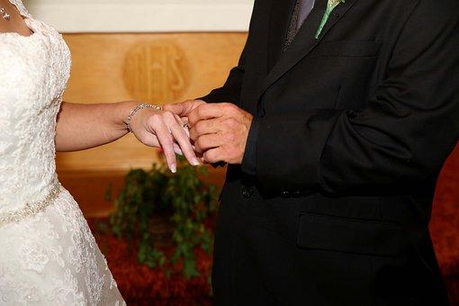 I Do, Wedding, Rings, Couple, Happy, Marriage, Bride
