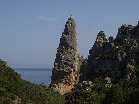 Cala Goloritze, Sardinia, Climb, Pinnacle, Rock