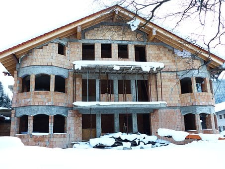 House, Build, Shell, Winter, Frost Penetration, Freeze