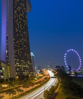 Marina Bay Sands, Marina, Singapore Landmark, Blue Hour