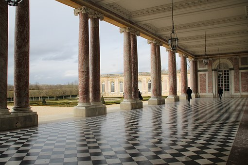 Paris, Versailles, Palace, Small Trianon, Columns