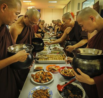 Theravada Buddhism, Monks Having Lunch