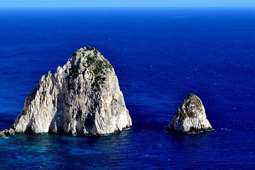 Greece, Zakynthos, Rocks, Water, Turquoise, Sea, Island