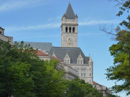 Church, Washington, Sky, Washington National Cathedral