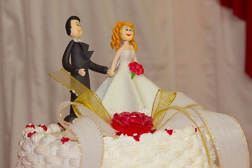 Wedding Cake Toppers, Married, Wedding Cake