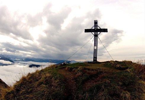Summit Cross, Mountain Summit, Summit, Alpine, Mountain