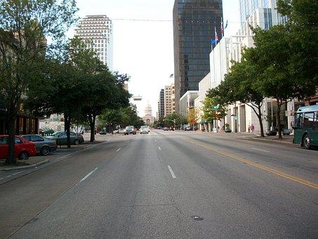 Austin, Texas, Downtown, Congress, Avenue, Capitol