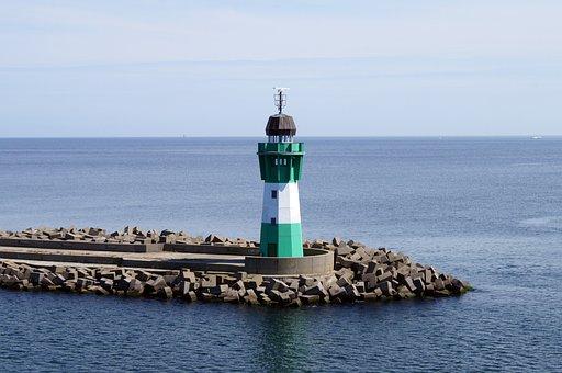 Lighthouse, Sassnitz, Baltic Sea, Sea