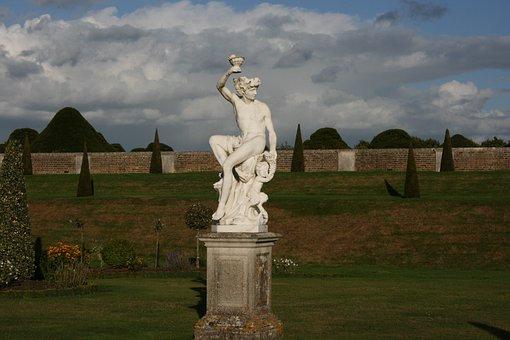 Statue, White, Garden, Beauty, Art, Sculpture