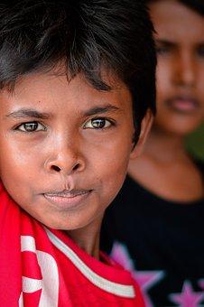 Portrait, Boy, Eyes, Burma People, In Aceh, Lhoksukon