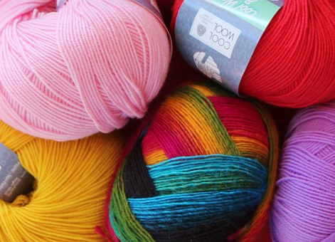 Wool, Pure New Wool, Cat's Cradle, Knit, Colorful
