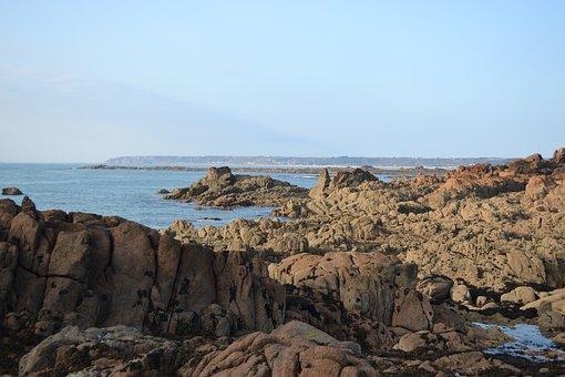 Sea View, Jersey, Rocks, Rock Pools, Coastline
