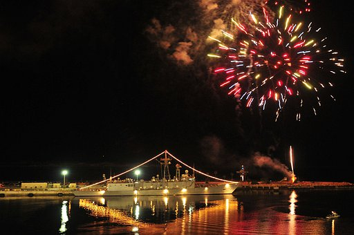 Fireworks, Night, Evening, Mayport, Florida