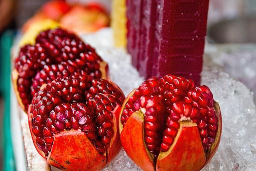 Pomegranate, Juice, Fruit, Fresh, Food, Red, Healthy