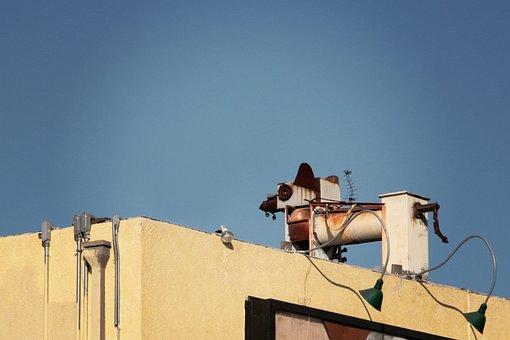 Industrial, Urban, Rooftop, Curious, Rusty, Hidden, Art