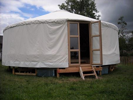 Tent, Wooden Building, Home, Tent House, Round Tent