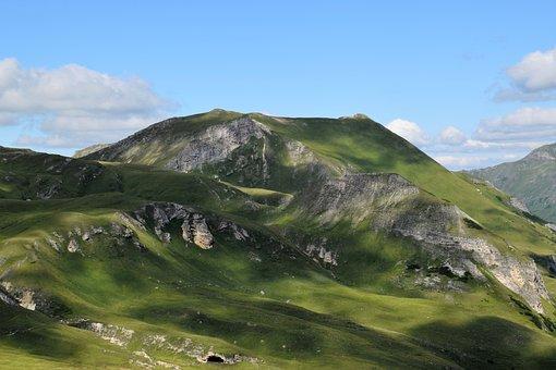 Mountains, Alpine, Landscape, Green, Blue