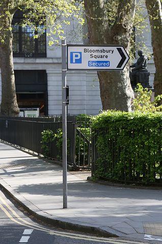 Bloomsbury Car Park, Sign, Parking, London, Street