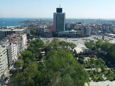 Taxim, Taximplatz, Space, Center, Istanbul, Turkey