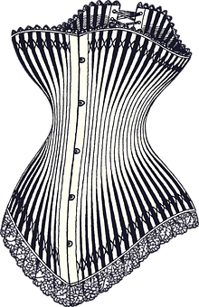 Corset, Vintage, Underwear, Fashion, Patent, Us, String