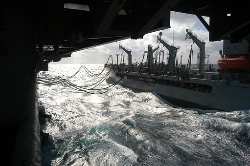 Atlantic Ocean, Ship, Battleship, Sea, Water, Waves