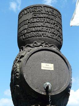 Monument, Wine City, Wine, Barrel, Wine Barrel, Bremm