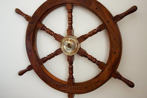 Wooden Steering Wheel, Sailing Symbol, Nautical Gift