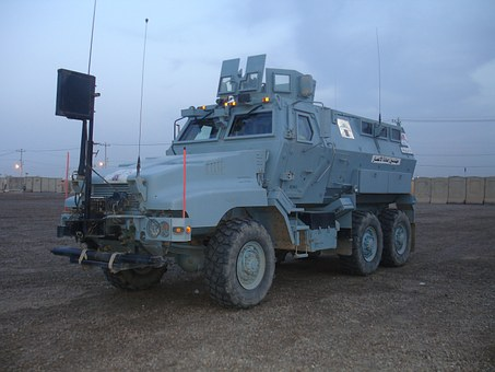 Armored Vehicle, Blue, Army, Heavy, Transportation