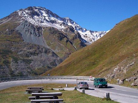 Alpine Road, Mountain Road, Austria, Alps, Mountain
